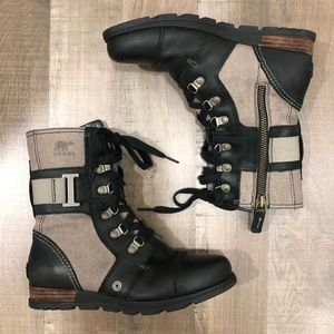 Sorel Major Carly Leather and Canvas Boots